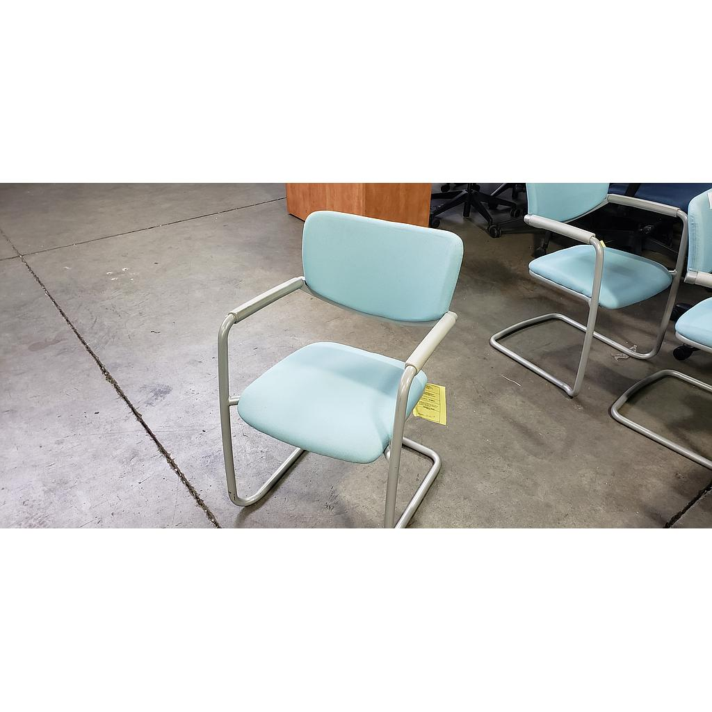 Light Blue Metal side chairs