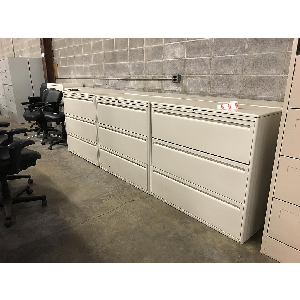 "Haworth 42"" 3 drawer lateral"