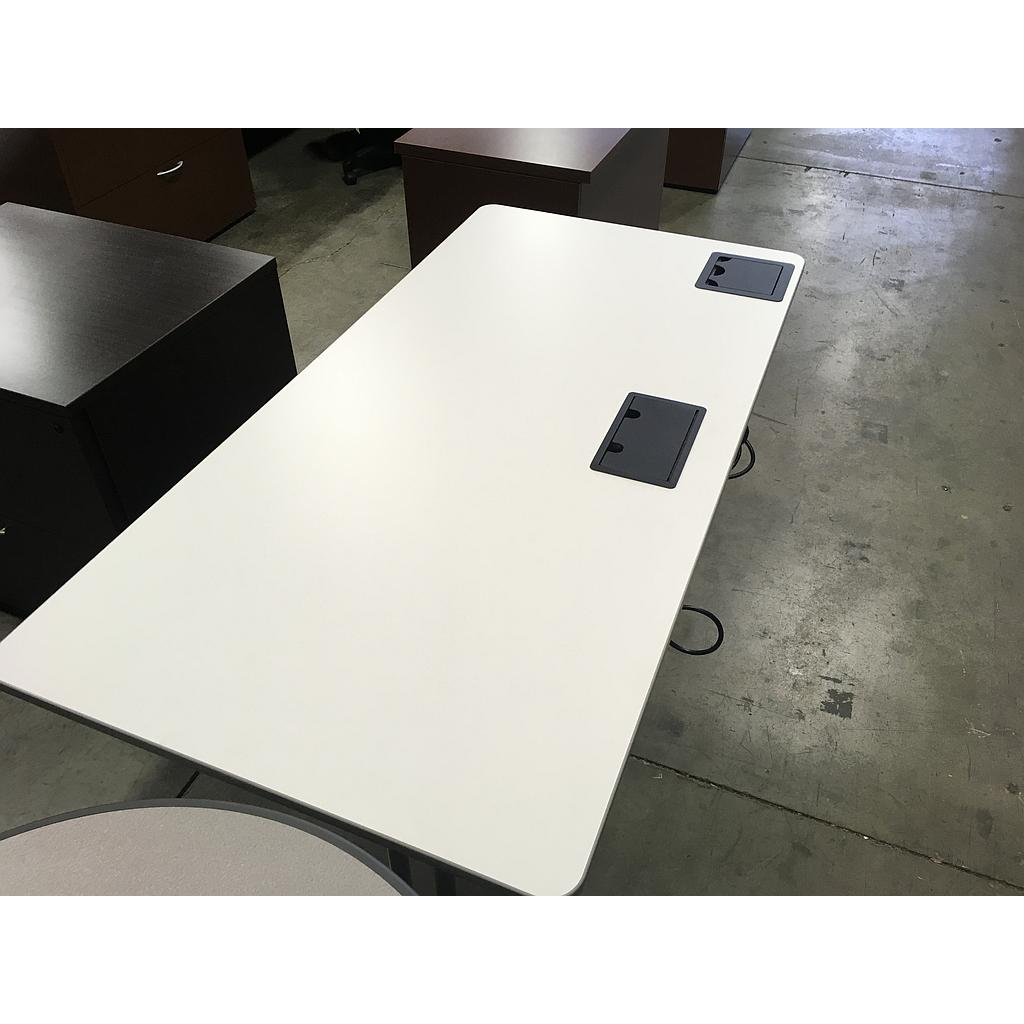 30x60 White Powered Training Table