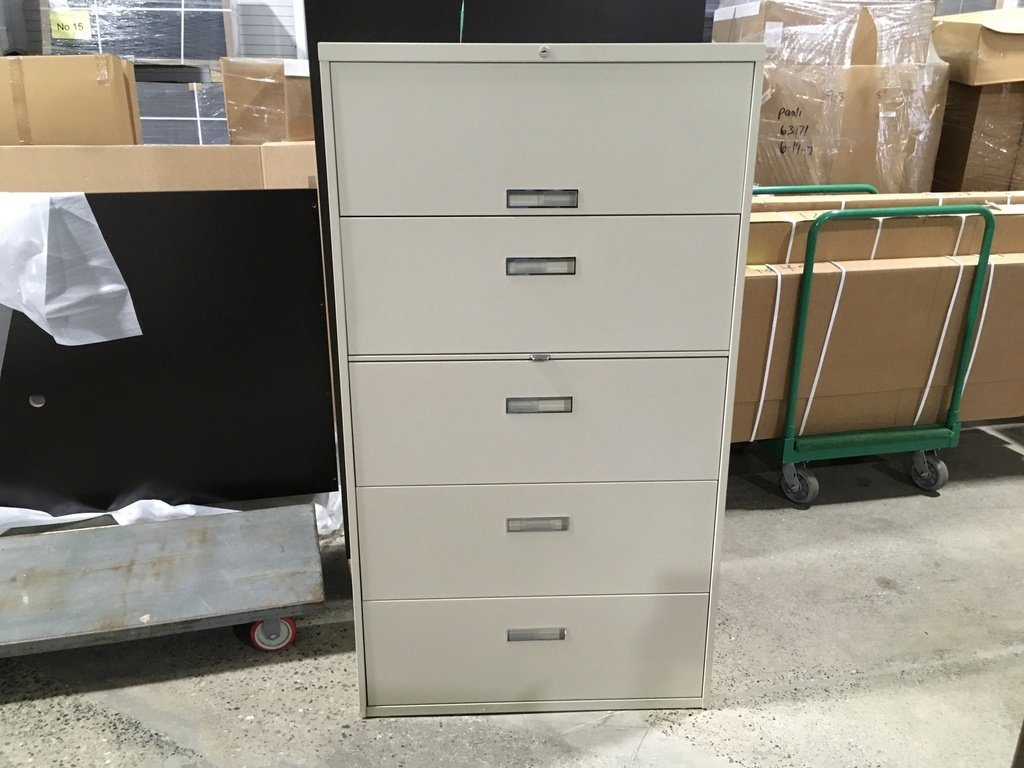 "36"" 5 drawer lateral cream"