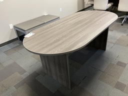 [CT71] Euroline Racetrack Conference Table 6' Grey