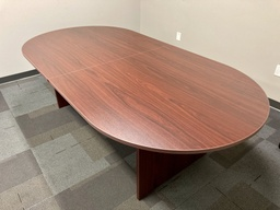 [CT96] Euroline Racetrack Conference Table 8' Mahogany