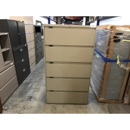 "Steelcase  36"" 5 drawer Lateral file Beige"