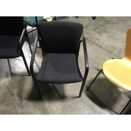 Grey w black arm stack chairs