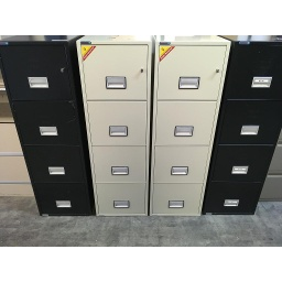 Phoenix Fire proof 4 drawer Letter file Cream