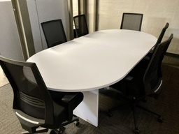 [CT96] Euroline Racetrack Conference Table 8' White