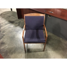 Maple w/Purple Cushion Side Chair