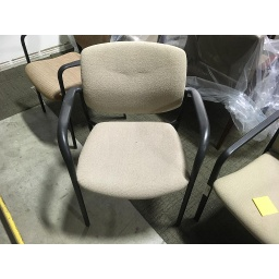Tan Cushion Stack Chair