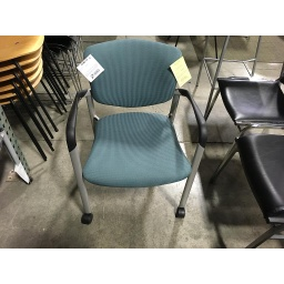 Teal w/Black&Grey Arms Side Chair