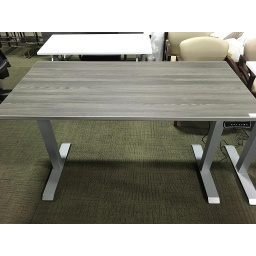 Euroline 30x60 Sit Stand Electric Desk Grey fluted