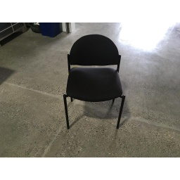 Stack Chairs black fabric no arms round back