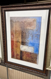 Blue & Gold Framed Art 47x37