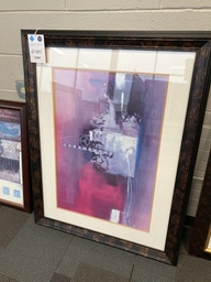 Pink & Purple Abstract Framed Art 46x35